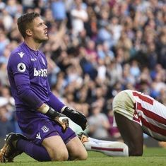 Manchester City put seven past Stoke, Chelsea lose 2-1 to Crystal Palace