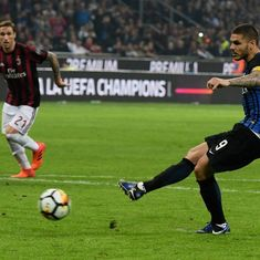 Mauro Icardi's hat-trick powers Inter to thrilling win in Milan derby
