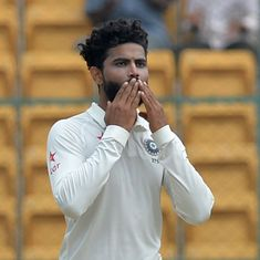 I didn't realise that I took the catch, says Jadeja about the acrobatic effort to dismiss Wagner