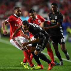 Champions League: Goalkeeping error gives Manchester United slender 1-0 win over Benfica