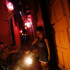 In photos: On Diwali, show of lights bedazzles the night sky