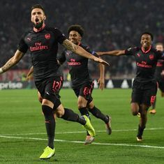 Europa League: Giroud strikes late winner for Arsenal, Everton crash to defeat against Lyon