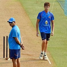 Sachin Tendulkar's son Arjun bowls at nets to India batsmen ahead of first New Zealand ODI