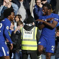 Michy Batshuayi double takes some pressure off Antonio Conte as Chelsea beat Watford 4-2