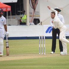 Zimbabwe's Graeme Cremer, Sean Williams run through West Indies on day one