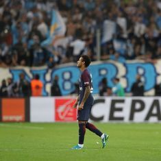 Neymar scores, then sees red, before Cavani rescues point for PSG against rivals Marseille