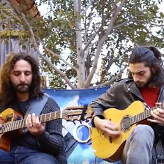 Watch: The eclectic musician duo that is taking the streets of Melbourne by storm