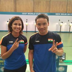 Jitu Rai and Heena Sidhu clinch gold in mixed-team event at ISSF World Cup Final