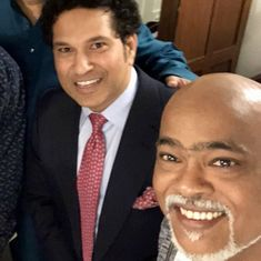 We hugged, everything is fine between us: Kambli claims feud with Tendulkar is over