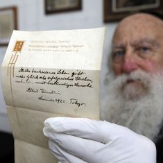 Albert Einstein's note on happiness sold for $1.56 million in Jerusalem