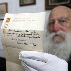 Albert Einstein's note on happiness sold for $1.56 million in Jerusalem