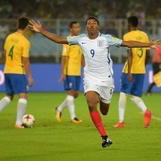 Yet another Rhian Brewster hat-trick helps England down Brazil to reach U-17 World Cup final