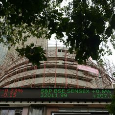 Markets: Sensex ends 340 points lower, Nifty closes at 10,030