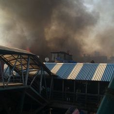 Watch: Fire breaks out at slum near Mumbai's Bandra station, two injured