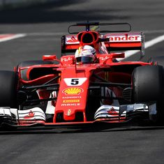 Mexican GP: Vettel boosts slim title hopes with stunning pole, Hamilton third