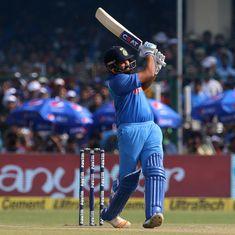 भारत ने सौवीं बार 300 रन का आंकड़ा पार किया, रोहित शर्मा का वनडे में दोहरे शतकों का रिकॉर्ड