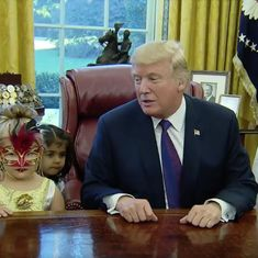 Watch: Donald Trump is true to character while playing trick or treat in the White House