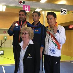 Commonwealth Shooting: Shahzar Rivzi leads India to medal sweep in 10m air pistol