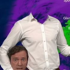 Watch: On Halloween, a headless British presenter delivered the weather forecast  on TV
