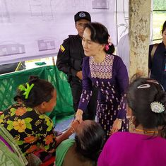 Myanmar leader Suu Kyi makes first visit to troubled Rakhine state, asks people to 'not quarrel'