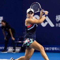 Ashleigh Barty overpowers Angelique Kerber to reach WTA Elite Trophy semis