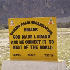 Ladakh gets the world's highest motorable road at 19,300 ft