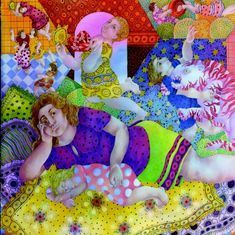 Artist Maya Burman's psychedelic paintings of children reflect the joys of being alive