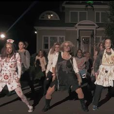 Watch an army of zombie moms take over a neighbourhood in a US town