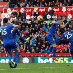 Stoke City dig deep to rescue point against Leicester City in 2-2 draw