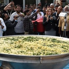 World Food India event: 918-kg khichdi sets Guinness World Record