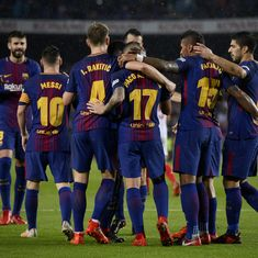 Barcelona register routine win amidst political protests and cries of 'freedom'