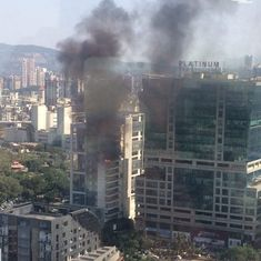 Mumbai: Fire breaks out in building opposite Vashi Railway Station, no casualties