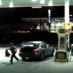 Caught on camera: Woman breaks out of the trunk of a car to escape from her abductor