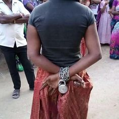 Telangana: Neighbours free woman kept chained by her family in Jagtial town