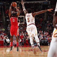 Harden nets triple-double for Rockets, Nuggets stun Thunder, Wizards halt losing streak