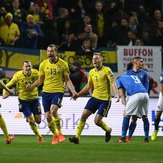 Advantage Sweden as Italy go down 0-1 in must-win first leg of playoff