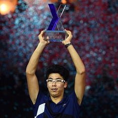 Hyeon Chung fights from a set down to lift inaugural Next Gen ATP finals trophy
