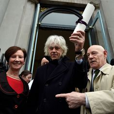 Rohingya crisis: Musician Bob Geldof returns Dublin honour in protest against Aung San Suu Kyi