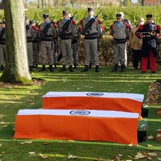 Remains of two Indian soldiers who were killed in World War I buried in France