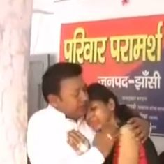 Police officer shares video of man singing romantic song to mollify his wife – at a police station