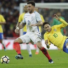 Second-string England hold Neymar's Brazil to a draw in friendly