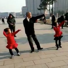 Watch: This Chinese man and his adorable granddaughters are the dancing stars of the week