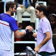 ATP Finals: Sock knocks out Zverev to reach semis, Federer subdues Cilic again
