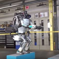 Watch: Atlas, this humanoid robot can now do a perfect backflip after a gymnastic routine