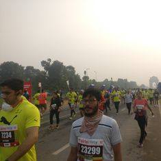 In photos: Delhi half marathon sees record participation despite concerns about air pollution