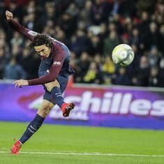 Cavani downs Claudio Ranieri's Nantes as PSG extend Ligue 1 lead to 6 points