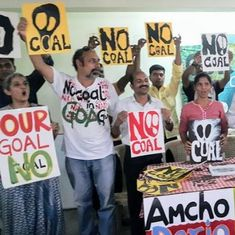 In Goa, 54 village councils vow to stop coal trucks passing through their streets