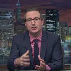 Watch: John Oliver stops slamming 'daily Trump-induced chaos' to criticise an entire year of Trump
