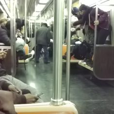 Watch: A ride on the New York subway became highly entertaining as a rat incited panic and laughter