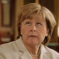 Watch: Angela Merkel has a political problem on hand, but does she have an eyeroll problem too?